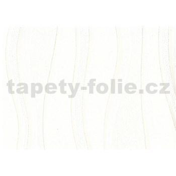 Vliesová tapeta - biele vlnovky - ZĽAVA