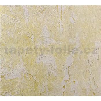 Vliesová tapety na stenu štruktúrovaná omietkovina žltá