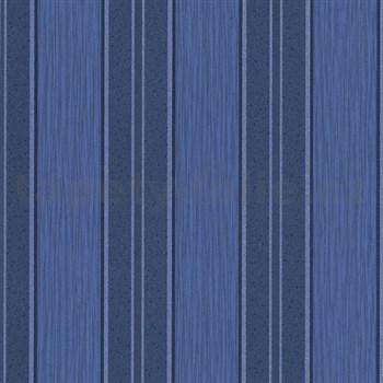 Vliesové tapety na stenu Spotlight - pruhy modro-strieborné
