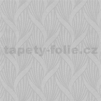 Vliesové tapety na stenu Spotlight 3D moderný vzor sivý