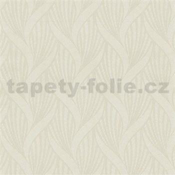 Vliesové tapety na stenu Spotlight 3D moderný vzor smotanový - POSLEDNÉ KUSY