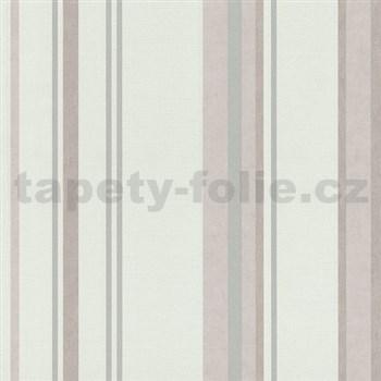 Vliesové tapety na stenu Spotlight - pruhy ružovo-sivé