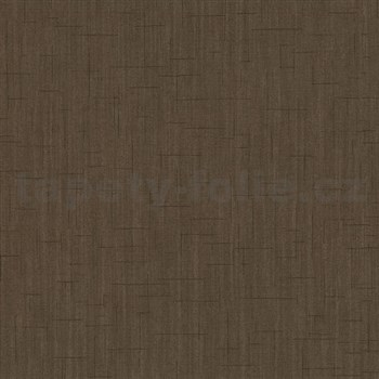 Vliesové tapety na stenu Spotlight - štruktúrovaná tmavo hnedá