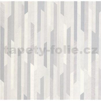 Vliesové tapety na stenu Spotlight 2 pásky sivé/strieborné