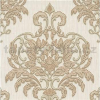 Vliesové tapety na stenu IMPOL Spotlight 3 zámocký vzor zlato-béžový