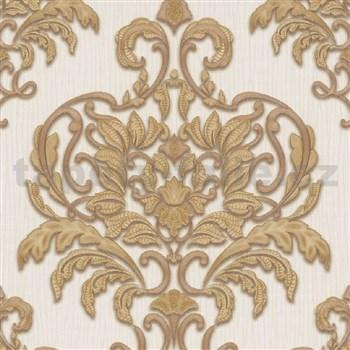 Vliesové tapety na stenu IMPOL Spotlight 3 zámocký vzor zlatý na krémovom podklade