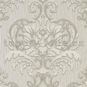 Vliesové tapety na stenu IMPOL Spotlight 3 zámocký vzor bielo-sivý