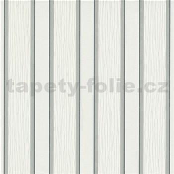 Vliesové tapety na stenu IMPOL Spotlight 3 pruhy sivo-strieborné