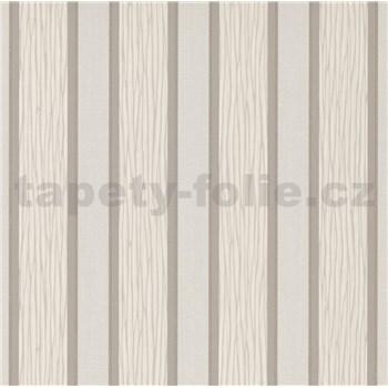 Vliesové tapety na stenu IMPOL Spotlight 3 pruhy bielo-sivé