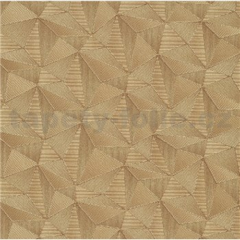 Vliesové tapety na stenu IMPOL Spotlight 3 ihlany 3D zlaté s metalickými odleskami
