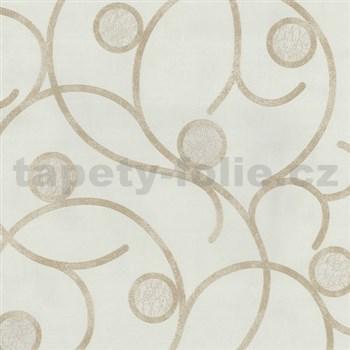 Vliesové tapety na stenu Studio Line - Magic Circles - svetlo hnedé na krémovom podklade