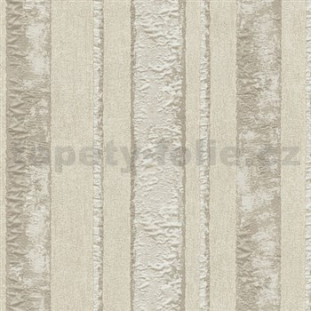 Vliesové tapety na stenu Studio Line - Opulent pruhy hnedé s leskom