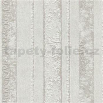 Vliesové tapety na stenu Studio Line - Opulent pruhy svetlo hnedé s leskom