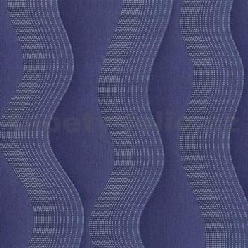 Vliesové tapety na stenu Studio Line - Graceful vlnovky modro-fialové