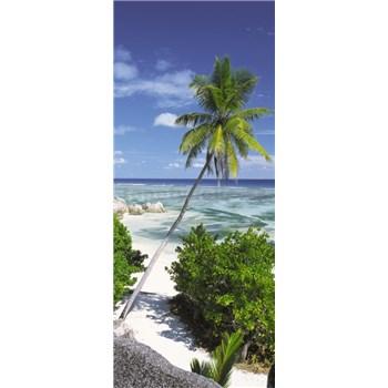 Vliesové fototapety palma na pláži rozmer 92 cm x 220 cm
