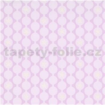 Vliesové tapety na stenu IMPOL Sweet and Cool retiazkovitý vzor s hviezdami ružový
