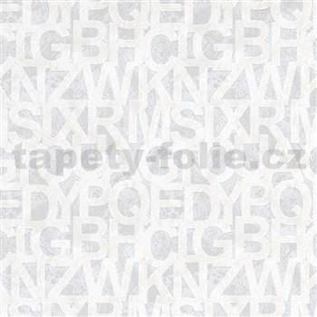 Vliesové tapety na stenu IMPOL Sweet and Cool písmená biele na sivom podklade