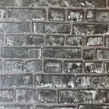 Papierové tapety na stenu Sweet & Cool tehlová stena černá