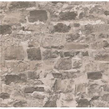 Papierové tapety na stenu Sweet & Cool kamenná stena hnedá
