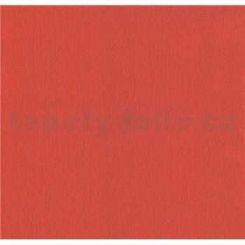Papierové tapety na stenu Sweet & Cool jednofarebná so štruktúrou červená