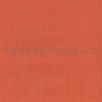 Papierové tapety na stenu Sweet & Cool oranžové štruktúrované prúžky s trblietkami