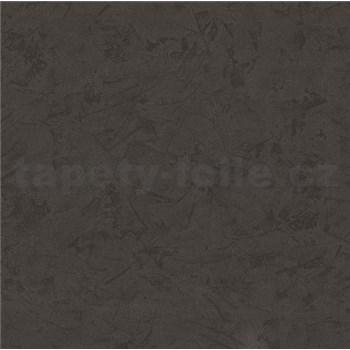 Vliesové tapety - štruktúrovaná omietkovina tmavo hnedá MEGA ZĽAVA