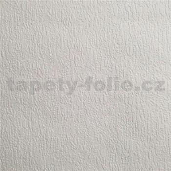 Papierové tapety na stenu omítkovina snehovo biela
