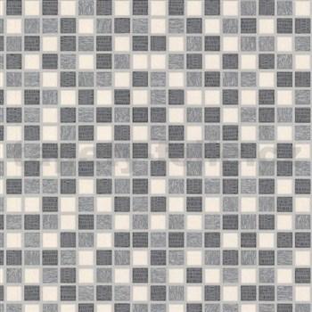 Vinylové tapety na stenu kachličky mozaika sivá