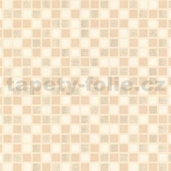 Vinylové tapety na stenu kachličky mozaika béžová