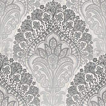 Vliesové tapety na stenu Spectrum moderný vzor sivo-strieborný
