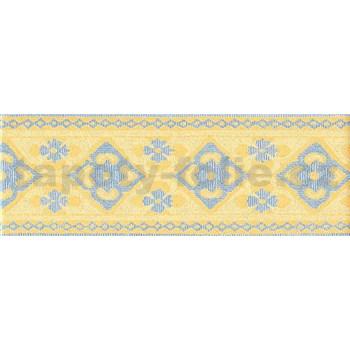 Bordúra ornamenty modro-žlté 5 m x 10,5 cm