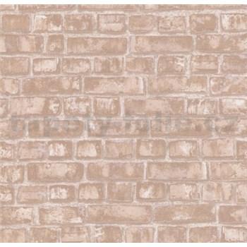 Vliesové tapety na stenu Easy Wall tehly svetlo hnedé
