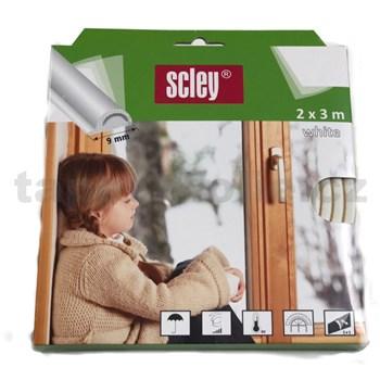 Samolepiace tesnenia do okien a dverí 6m profil P, tesnenia 3-5mm, biele