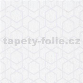Vliesové tapety IMPOL Timeless plásty sivé na bielom podklade