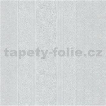 Vliesové tapety IMPOL Timeless drobné ornamenty biele na svetlo sivom podklade
