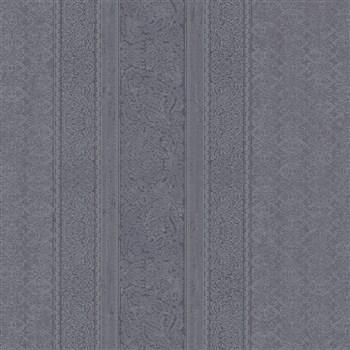 Vliesové tapety IMPOL Timeless drobné ornamenty čierne na čiernom podklade