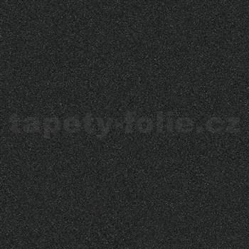 Vliesové tapety na stenu IMPOL Timeless štruktúrovaná čierna s trblietkami