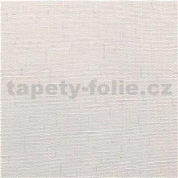 Vinylové tapety na stenu IMPOL Timeless textilná štruktúra biela