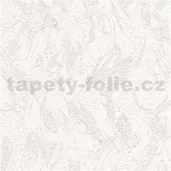 Vinylové tapety na stenu IMPOL Timeless stierka biela s trblietkami