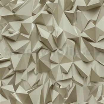 Vliesové tapety na stenu Times - 3D hrany hnedé