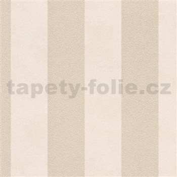 Vliesové tapety na stenu Trendwall pruhy zlato-béžové