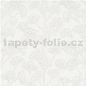 Vliesové tapety na stenu Trésor florálny vzor sivý