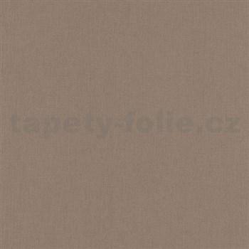 Papierové tapety na stenu Tribute - štruktúrovaná tmavo hnedá