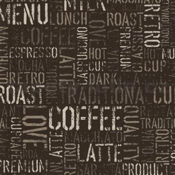Papierové tapety na stenu Tribute - coffee tmavo hnedé