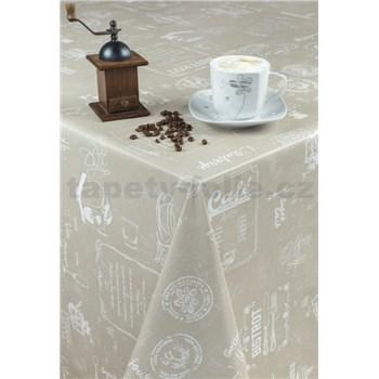 Obrusy návin 20 m x 140 cm Café Bistro hnedé