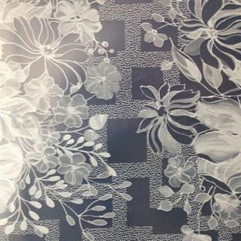 Obrus metráž transparentné kvety matné