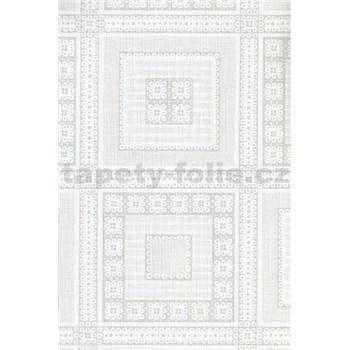 Obrus - štvorčeky biele