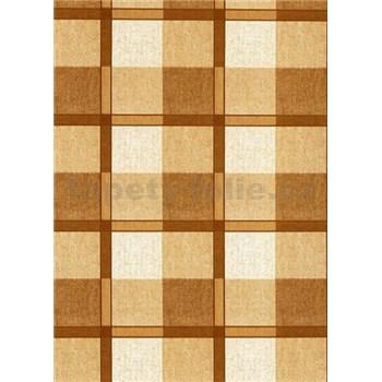 Obrusy návin 20 m x 140 cm štvorčeky hnedé