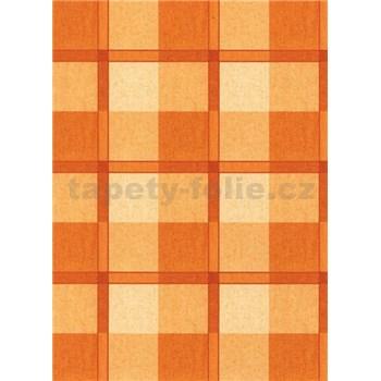 Obrus - štvorčeky oranžové