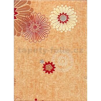 Obrus - kvety béžové